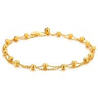 Luxury 18K Real Gold Plated Women Wedding Foot Jewelry Heart Pendant Anklets Ankle Bracelet 730