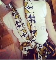5 pcs/lot Free shipping 2014 fashion Pattern scarf Thin Soft Long Scarf Chiffon Scarf Women's Patriotic American Flag Scarf
