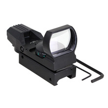 Holographic Laser Reflex Red Green 4 Reticle Dot Sight Scope 33mm Picatinny Rail(China (Mainland))