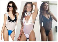 NEW!!!3 Colors Firebird Mesh Bodysuit Monokini Cut Out Skimpy Swimsuit, V Style One Piece Swimwear For Women