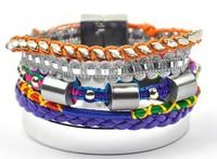 Hot Sale Colorful Blue Orange Women Handmade Fashion Brazil Style Hipanema Bracelets. Shell Beads Mixed Holiday Beach Jewelry