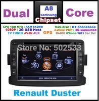 Free Map Rear View Camera + 8G SD Card + RENAULT Duster Dacia Logan Dokker Car DVD Player GPS Navigation Bluetooth Ipod Radio TV