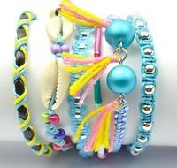 Hot Sale Colorful Women Handmade Weaved Fashion Brazil Style Hipanema Bracelets. Shell Beads Mixed Holiday Beach Jewelry