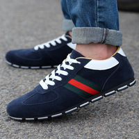 Free shipping 2014 autumn Men's casual shoes Popular men's shoes British Breathable frosted Leather shoes sailing