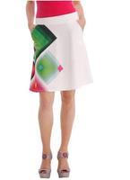 2014 Summer Skirts Women Skirts Celebrity Party Casual Skirts  Black Print Skirts Knee length white DG067