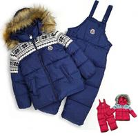 RC0135 Free shipping nice childrens clothing set boys & girls winter ski set fashion kids windproof suit warm coat +pants retail