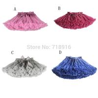 New 2014 Hot 4 Colors Vintage Baby Girls Tutu Skirt Dancewear Girl Fluffy Pettiskirt  Kids Petticoat Free Shipping