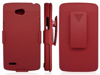 For LG L80 Cover, Newest Dual Layer Rugged Armor Hybrid Combo With Belt Clip Cover Protective Case For LG L80 D373 Via Free Ship