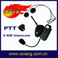 Free shipping !!! 2 KM intercom motorcycle helmet two way radio headset/ bicycle helmet headset