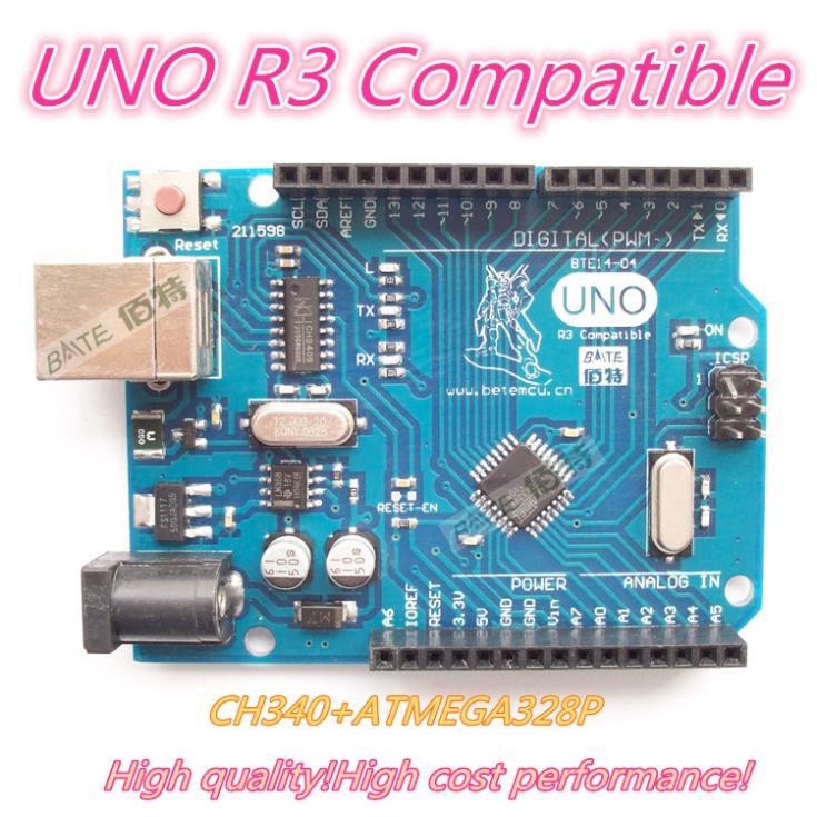 1PCS UNO R3 UNO board for Arduino(Compatible) UNO MEGA328P CH340 NO USB CABLE(China (Mainland))