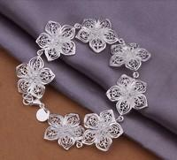 Hot Sell!Wholesale Sterling 925 Silver Bracelet,925 Silver Fashion Jewelry,New Design Flower Bracelet SMTH317