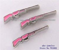 10pcs pink Rifle FC202 floating charms wholesales for living memory locket as Mom Dad sister grandma gift