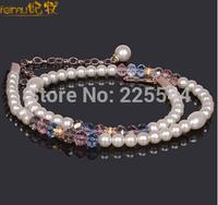Feimu crystal pearl belly chain women's thin all-match belt metal diamond skirt decoration cummerbund accessories