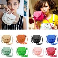 New 2014 Fashion Women PU Leather mobile phone candy color mini women messenger bag for vintage girls shoulder bag 10 colors