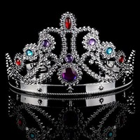 Acrylic Rhinestone Party Queen Crown 2 colors ,  free shipping