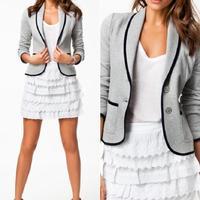 Hot New Women Slim Casual Lapel Short Blazer Feminino Blaser Fashion Suit #62029