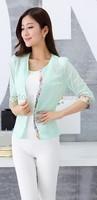 New 2014 Autumn Women's Suit Jacket Fashion Lace Women's Thin section Women Small Suit jacket Free Shipping Promotion