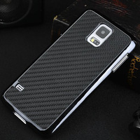 2014 Luxury Business Style Chrome Carbon Fibre Grid Metal plating aluminium PC hard case cover for Samsung Galaxy S5 mini