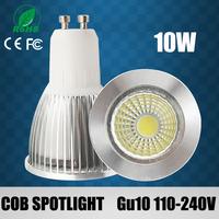 10PCS 7w/10w/15w High power led Spotlight COB GU10 dimmable Spotlight warm/cool white replace the 55w/65w/85w Halogen lamp
