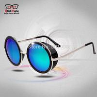 STEAMPUNK Retro Round Designer Sunglasses Women Cycling Mens Eyeglass Sun Glasses 924/3317 Glass Circle Glass oculos 2014 new