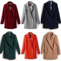New 2014 Hot Fashion Winter Warm Women Double-breasted Woollen Jacket Outwear Coat #62866