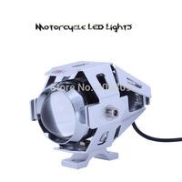 Motorcycle 12v-80v 30w 3000-lumen CREE U5 Led Motorcycle Headlight Fog Light 15W IP68 spot light(silver case body)