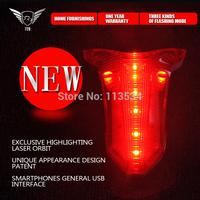 1pcs  Wholesale Latest fashion Sport Cycling Tail Light LED Rear Warning Bicycle Rear Light Lamp Bike light with retail box