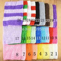 Free shipping , Cheap headband 7.5x9 inches Crochet tube top for tutu tops wide crochet headband 26 colors