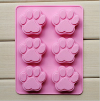 6 Hole Cat's Paw Shape Cake moulds Ice moulds  Jelly moulds  Chocolate Molds,Silicone moulds#SJJ431