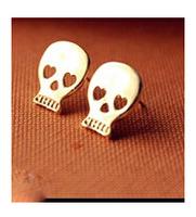 ES774 Hot New  Fashion European And American Big Skull Earrings Mischa Barton Wishing Clavicle Wholesale