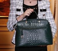 2014 new wave of Jurchen bag crocodile pattern leather handbag shoulder bag hand diagonal
