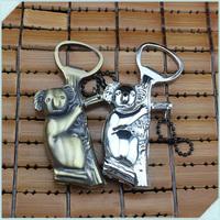 5pcs Lovely Koala Shaped Portable Inflatable windproof torch Lighter Butane Gas Cigarette Lighters With bottle Opener&Key ring