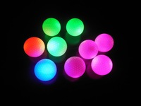 Free shipping Promotion Custom Logo 50pcs LED Constant Shining Golf Ball with Red Blue Green Luminous Glowing Golf Balls