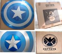 New Blue High Quality Replica Life Size 1:1  Captain America Shield ABS Or Aluminium Alloy Metal With Original Box