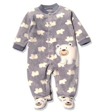 Carter's Baby Footies,Baby Fleece Footie Button Pajamas in Winter, Wholesale Baby Clothing Boys Girls,Long Sleeve Baby Jumpsuits(China (Mainland))
