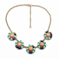 $ 15 Free shipping 2014 fashion necklaces Round flower pendant necklace for popular women