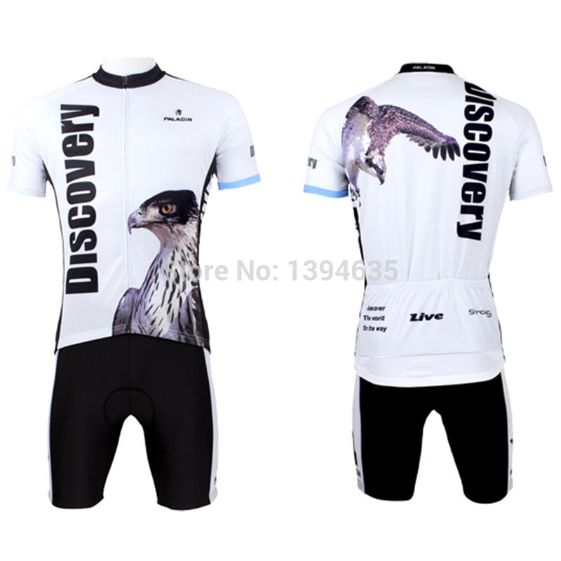 new men's paladin cycling jersey short sleeve eagle biking shorts animal cheap riding sets discover bicycle clothing hot sale(China (Mainland))