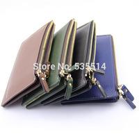Women Lady Pu Leather Long Wallet Purse Clutch Handbag Bag Button Zip 10pcs/lot