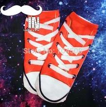 FD890 Japanese Harajuku Cartoon Animal Fashion Print Socks ~Red Shoes~ 1 Pair
