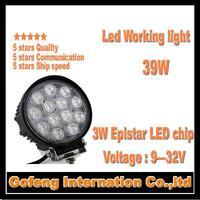 1PCS/LOT 2014 NEW ARRIVAL DC10-30V IP6712V led working car light 39w Offroad Truck epistar 3w ship spot beam lamp free shipping