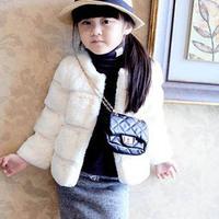 2014 Autumn/Winter Brand Girls Faux Fur Coat Jacket Coat Children's Outerwear Kids Jackets Children Clothing Girls Fur Coat