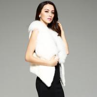 new 2014 fashion women  free shipping  Artificial fur  mink vest women's design short outerwear leather vest  coat