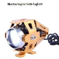 Moto Transformers 3000-Lumen Cree XM-L U5 LED Motorcycle Light Fog Light Spot Light(3 Modes,DC12~80V,Gloden Color)