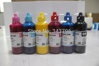 Free shipping 6pcs dye Sublimation ink for EPSON printer,heat transfer on sublimation paper, mug/metal/plastic/terylene T-shirts