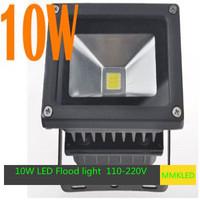 10W LED Flood light Wall Wash 110-220V Pure White/warm white  Black Shell IP65 Project Lamp