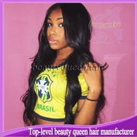 "180% density Full looking Unprocessed Wavy U part wig Brazilian virgin hair off black Glueless U part wig 12""-26"" instock"