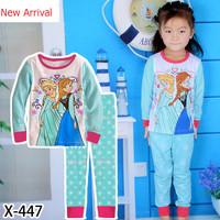 New Arrival 1set=2pcs 100% cotton 2-7 years old kids pajamas long sleeve Fall Winter pajamas sleepwear  2014-8-12  X-447