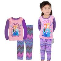 New Arrival 1set=2pcs 100% cotton 2-7 years old kids pajamas long sleeve Fall Winter pajamas sleepwear  2014-8-12  X-451