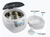 Russia free digital ultrasonic jewelry cleaner JP-900S, 750mL