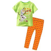 New Arrival 1set=2pcs 100% cotton 8-12 years old kids pajamas long sleeve Fall Winter pajamas sleepwear  2014-8-12  F081